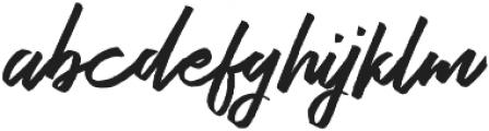 Bestrong Brush Font Regular otf (400) Font LOWERCASE