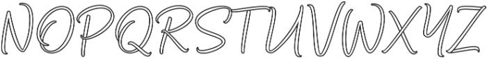 Bethadyn Outline otf (400) Font UPPERCASE