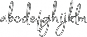 Bethadyn Outline otf (400) Font LOWERCASE
