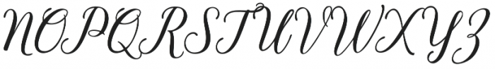 Bethanya Regular otf (400) Font UPPERCASE