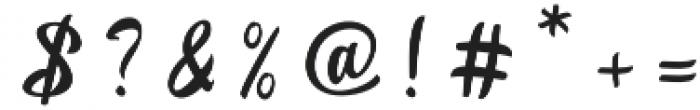 Betharie Regular otf (400) Font OTHER CHARS