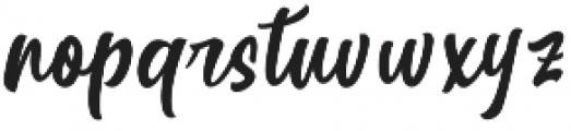 Betharie Regular otf (400) Font LOWERCASE