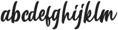 Betharie Rough otf (400) Font LOWERCASE