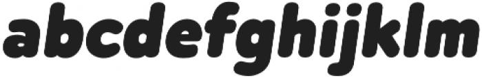 Betm Rounded ExtraBlack Italic otf (900) Font LOWERCASE