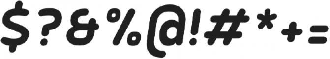 Betm Rounded SemiBold Italic otf (600) Font OTHER CHARS