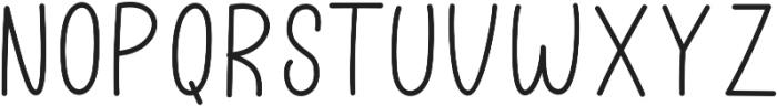 Better Caramel Sans otf (400) Font UPPERCASE