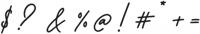 Better Signature otf (400) Font OTHER CHARS