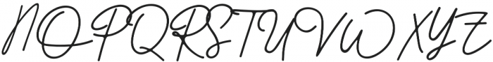Better Signature otf (400) Font UPPERCASE