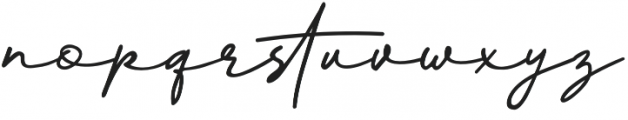 Better Signature otf (400) Font LOWERCASE
