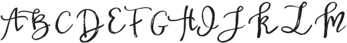 BetterFly Draft otf (400) Font UPPERCASE