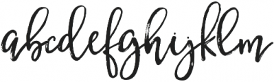 BetterFly Draft otf (400) Font LOWERCASE
