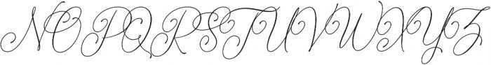 Bettylavia otf (400) Font UPPERCASE