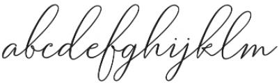 Bettylavia otf (400) Font LOWERCASE