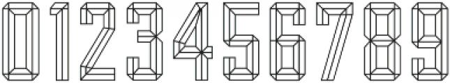 Bevel Block Outline otf (400) Font