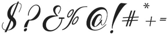 bebby script otf (400) Font OTHER CHARS