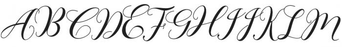 bebby script otf (400) Font UPPERCASE