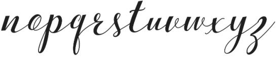 bebby script otf (400) Font LOWERCASE
