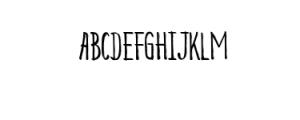 Beauty Heart Sans.ttf Font UPPERCASE