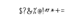 Beauty Heart Script.ttf Font OTHER CHARS