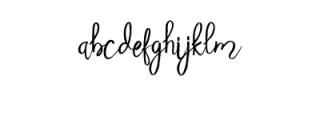 Beauty Heart Script.ttf Font LOWERCASE