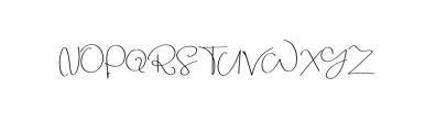 Beauty Script Font UPPERCASE