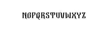Bekelakar-Allcaps.otf Font LOWERCASE