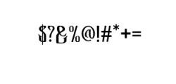 Bekelakar-Regular.otf Font OTHER CHARS