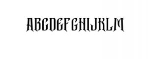 Bekelakar-Regular.otf Font UPPERCASE