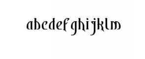 Bekelakar-Regular.otf Font LOWERCASE