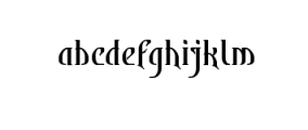 Bekelakar-Regular.ttf Font LOWERCASE