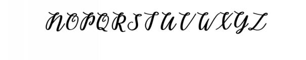 Belinda Script.ttf Font UPPERCASE