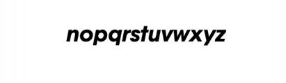 Bergen Nova-BoldOblique.otf Font LOWERCASE