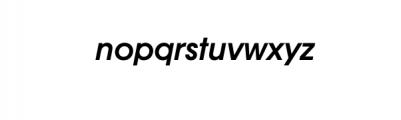 Bergen Nova-Semi BoldOblique.otf Font LOWERCASE