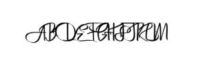 Bertha.ttf Font UPPERCASE