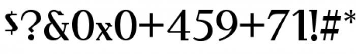 Behrens Antiqua Font OTHER CHARS