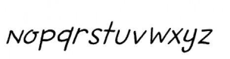 Betula Italic Font LOWERCASE