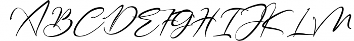 Bestowens family 1 Font UPPERCASE