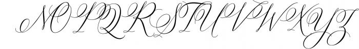 Bettrisia Script - Elegant Calligraphy Font 1 Font UPPERCASE