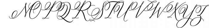 Bettrisia Script - Elegant Calligraphy Font Font UPPERCASE