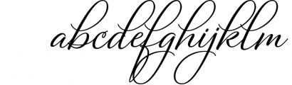 Bettrisia Script - Elegant Calligraphy Font Font LOWERCASE