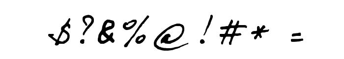BERNARD Font OTHER CHARS