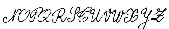 BERNARD Font UPPERCASE