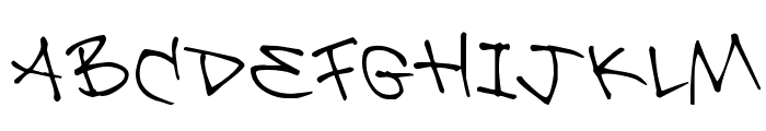 Be Aggressive Font LOWERCASE