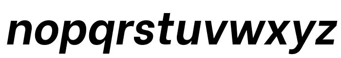 Be Vietnam Bold Italic Font LOWERCASE