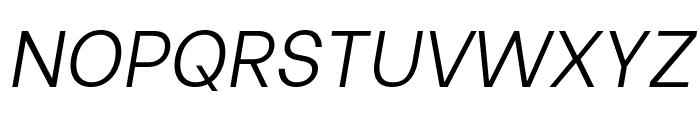 Be Vietnam Light Italic Font UPPERCASE