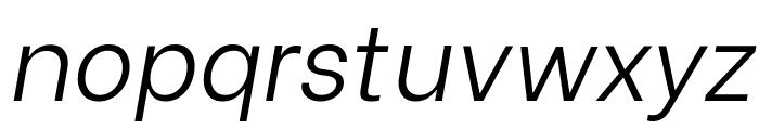 Be Vietnam Light Italic Font LOWERCASE