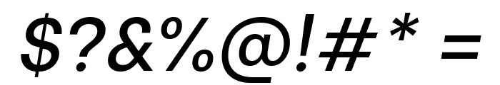 Be Vietnam Medium Italic Font OTHER CHARS