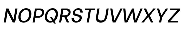 Be Vietnam Medium Italic Font UPPERCASE