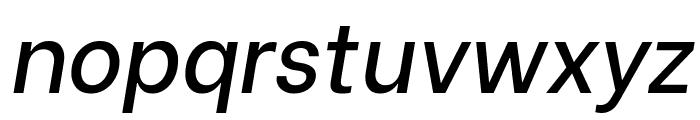 Be Vietnam Medium Italic Font LOWERCASE