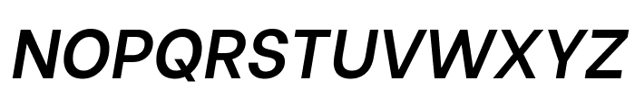 Be Vietnam SemiBold Italic Font UPPERCASE
